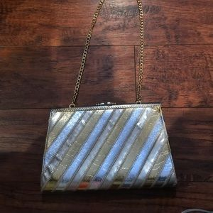 Vintage Delil Gold and Silver Purse